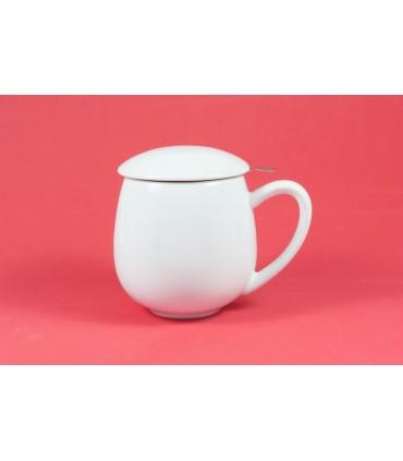 """Taza con filtro y tapa """"Zaara"""" 0,35 L blanca"""