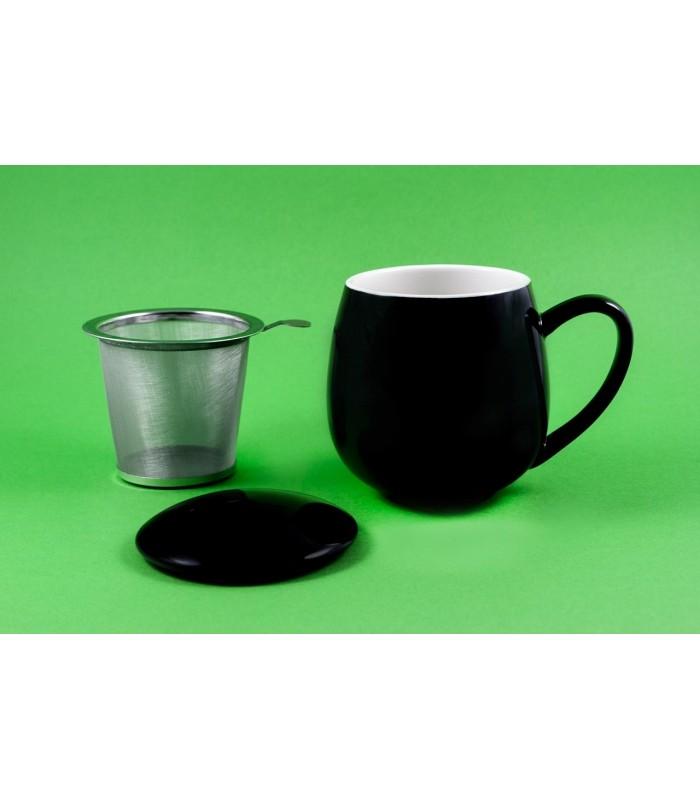 "Taza con filtro y tapa ""Zaara"" 0,35 L negra"