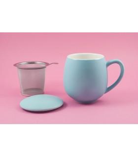 """Taza con filtro y tapa """"Zaara"""" 0,35 L Azul cielo"""