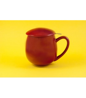 "Taza con filtro y tapa ""Zaara"" 0,35 L roja"