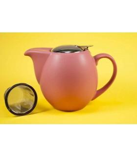 Tetera de cerámica Zaara 0,9 litros rojo mate