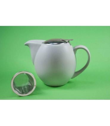 Tetera de cerámica Zaara 0,9 litros gris mate