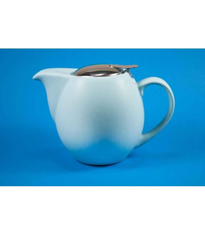 Tetera de cerámica Zaara 0,9 litros azul