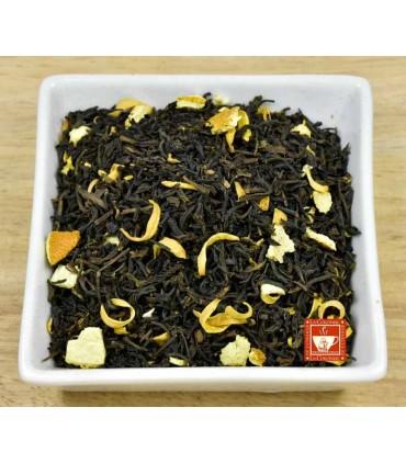 Té negro desteinado con Naranja
