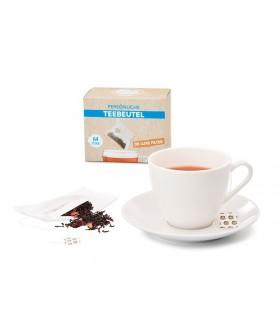 Filtros de té de tela con sistema de autocierre