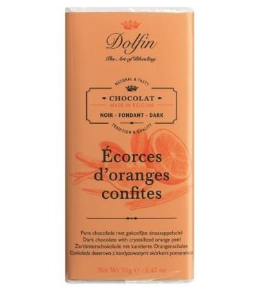 Chocolate Dolphin con naranja confitada - 70g