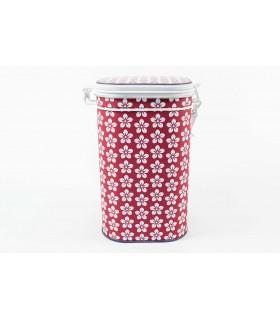 Lata de té o café de 250 g roja