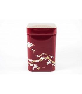 Lata de té 100 g Sakura - roja