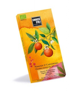 Chocolate con leche 36% cacao con Naranja y Cardamomo - 70g